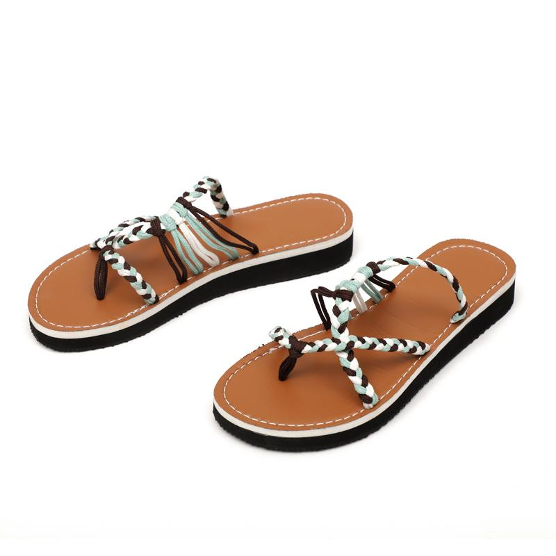 525db1397 Beach Sandals Fashion Woman Shoes New Summer Gladiator Roman Shoe Rope Flat  Thong Sandals Footwear Slippers Plus Size Femme Fashion Shoes Shoes For  Sale ...