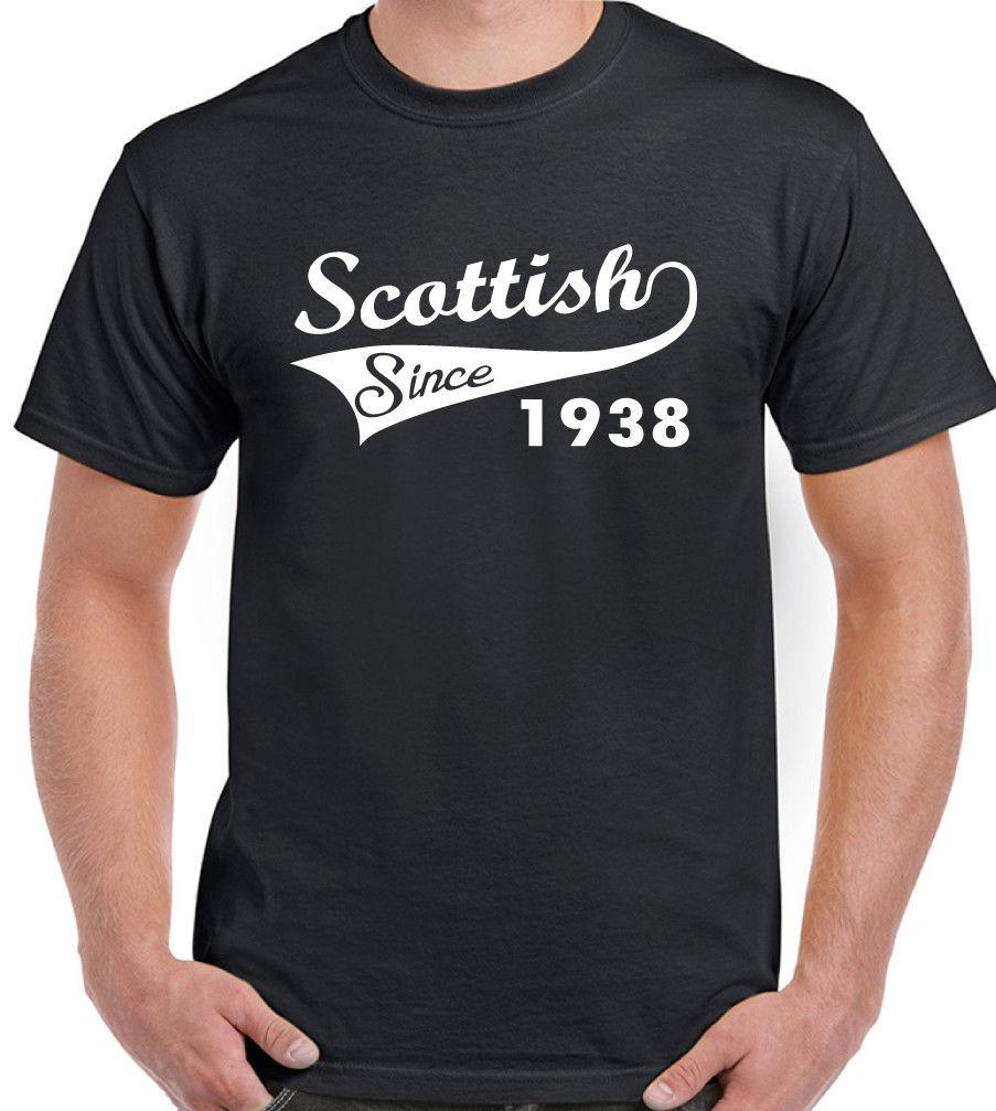 Scottish Since 1938 Mens Funny 80th Birthday T Shirt Rugby Football Flag Poker Shirts Tshits From Freshrags 1101