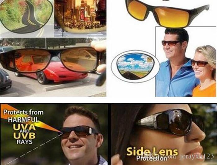 HD vision nocturne conduite lunettes de soleil hommes jaune lentille sur enveloppant lunettes sombre conduite UV400 lunettes de protection anti-reflets J030