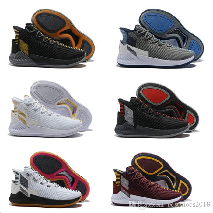 2d1801cada1 New 2018 D Rose 9 Basketball Shoes Best Quality 9s Athletic White Gold Black  Red Sneaker Cheap Girls Tennis Shoes Girls Shoes For Tennis From  Bestshoes2018