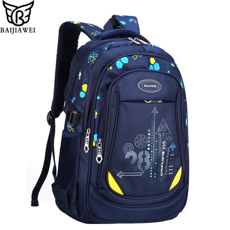 bdeb9f54c26f BAIJIAWEI 2017 New Primary School Bags For Children Multi-pocket Big  Capacity Backpacks For Boys Girls Waterproof Kids Backpack School Bags  Cheap School ...