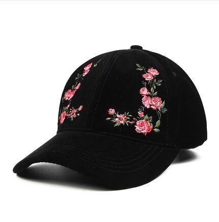 Hot Women s Cap Red Rose Flower Summer Snapback Dad Hat For Men ... cd1d9df7e081