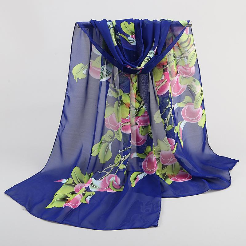 2018 new fashion style Scarves women's scarf long Polyester shawl spring cape silk chiffon tippet muffler magpie