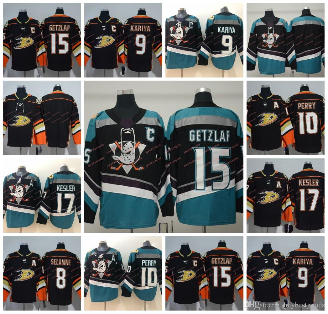 sports shoes 01930 ebd82 2018-2019 Anaheim Ducks Hockey Jerseys 8 Teemu Selanne 9 Paul Kariya 10  Corey Perry 15 Ryan Getzlaf 17 Ryan Kesler New Third Jerseys
