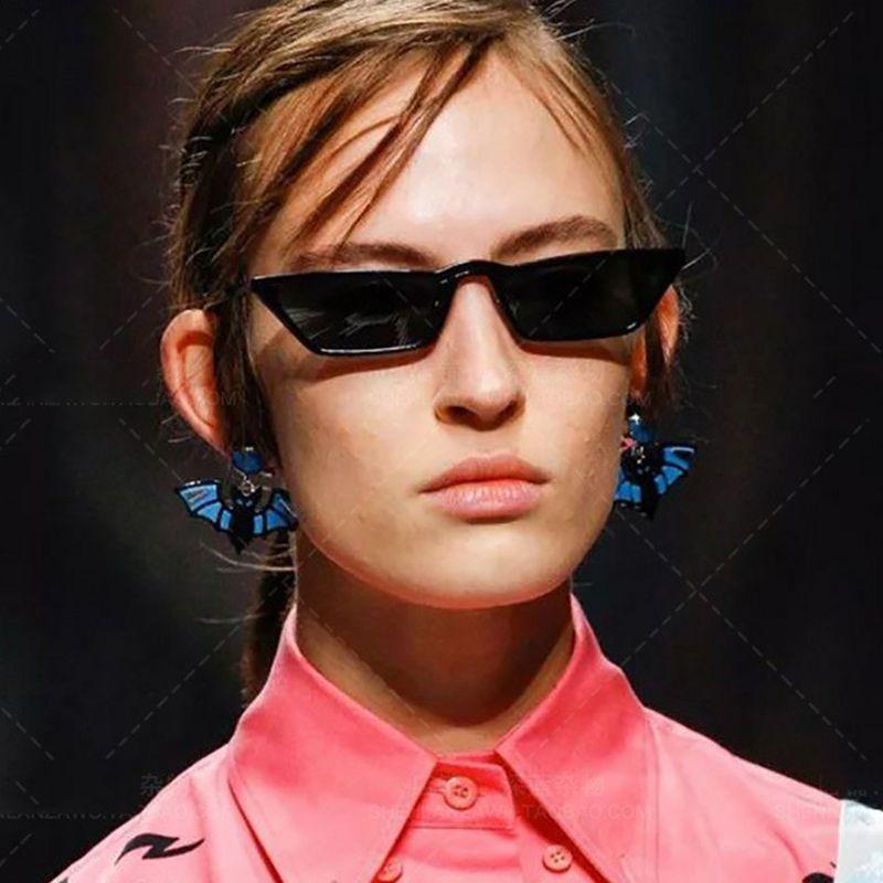 12d9a3e3622 Fashion Cat Eye Sunglasses Sexy Women Film Lens Cat Eye Frame Black ...