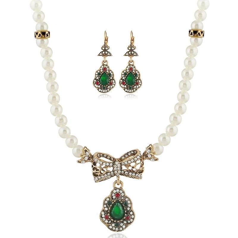 Orecchini Di Gioielli Perle Cristallo Verde Set Rosso Acquista w8Tq6xZI