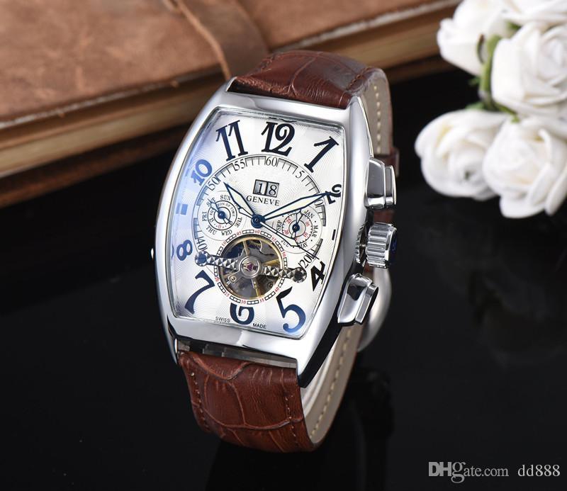 2017 newtop mecânico automático marca de luxo relógios de pulso automáticos mecânicos esporte mens relógios dos homens relógios