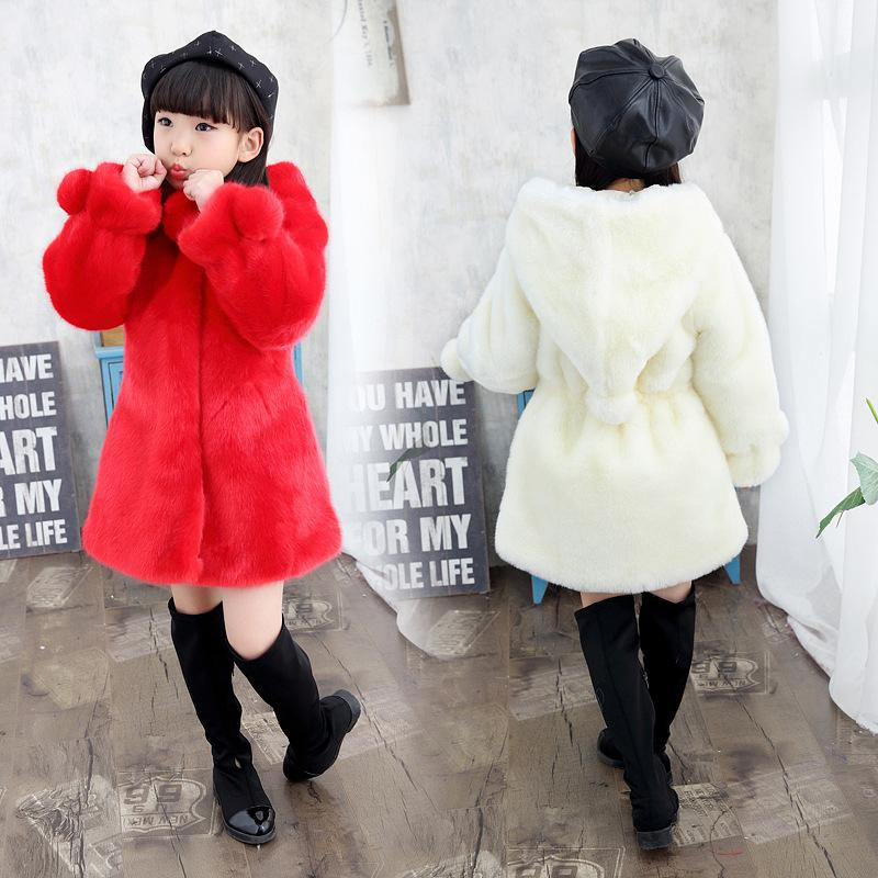 820be281 Baby Girls Fur Coat Childrens Winter Outerwear Clothing Hooded Faux Fur  Jacket For Kids Warm Clothes For 2 9 Years Old Best Kids Winter Coats  Toddler Pea ...
