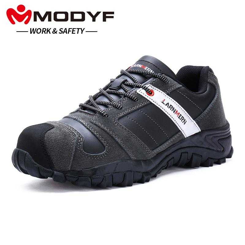 Men's Boots Men's Shoes Modyf Men Steel Toe Cap Work Safety Shoes Outdoor Ankle Boots Fashion Puncture Proof Footwear Online Shop