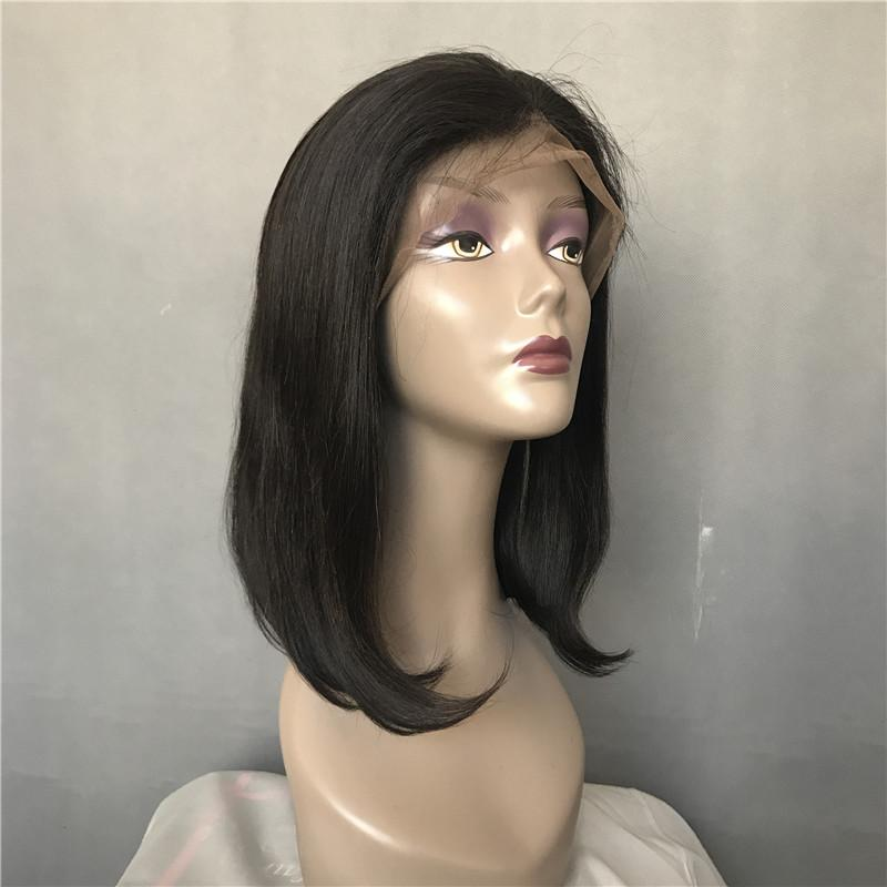 Brazilian lace front Wigs Glueless Human Hair Full Lace Wigs Bob Wig Middle Part Short Bob With Baby Hair For Black Women