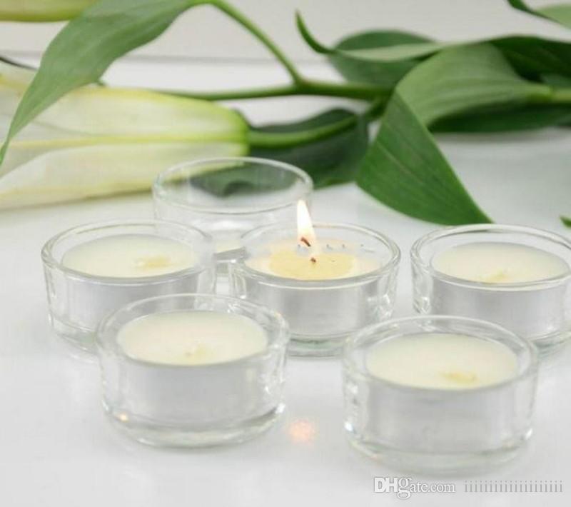 clear glass candle holders votives tea lights wedding centerpiece