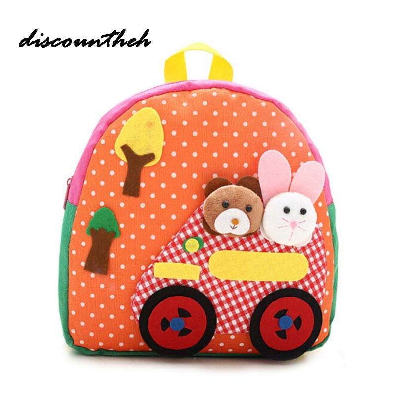 a6929db55323 New Cute Kids School Bag Cartoon Mini Plush Backpack Toy Kindergarten Boy  Girl Baby Children s Gift Student Lovely Schoolbag Outdoor Backpacks Girls  ...