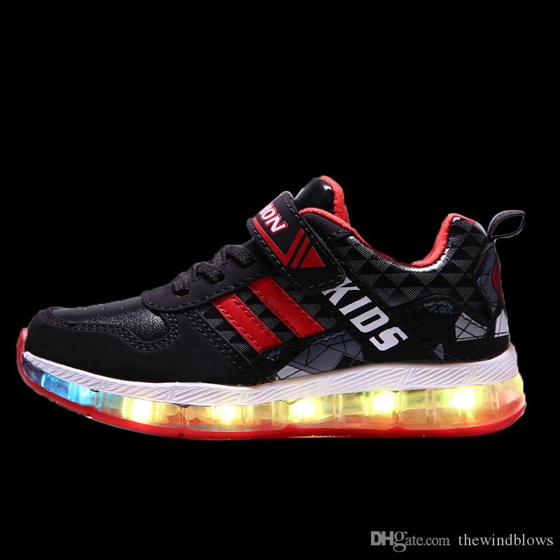 uk availability 1251e 876f3 2018 New 28-35 USB Charger Glowing Sneakers Led Children Lighting Shoes  Boys Girls illuminated Luminous Sneaker
