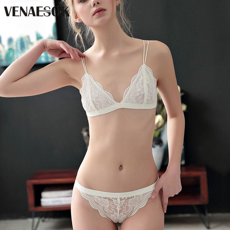a4bf75474 2019 New Flowers Embroidery Bra And Panty Sets Brand White Lace Lingerie  Set Transparent Bras Women Red Sexy Underwear Set Plus Size From  Clothwelldone