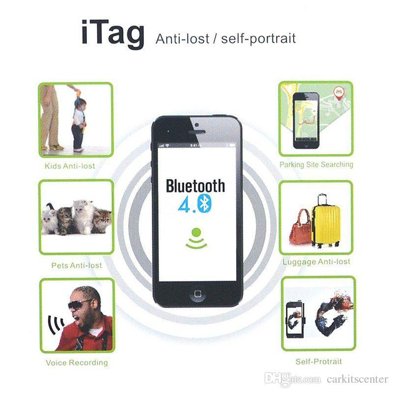 Mini Bluetooth Buscador Inteligente Inalámbrico iTag 4 unids Rastreador Monedero Mascota Bolsa Equipaje Monedero Localizador Clave Anti Perdida de Alarma Recordatorio con batería