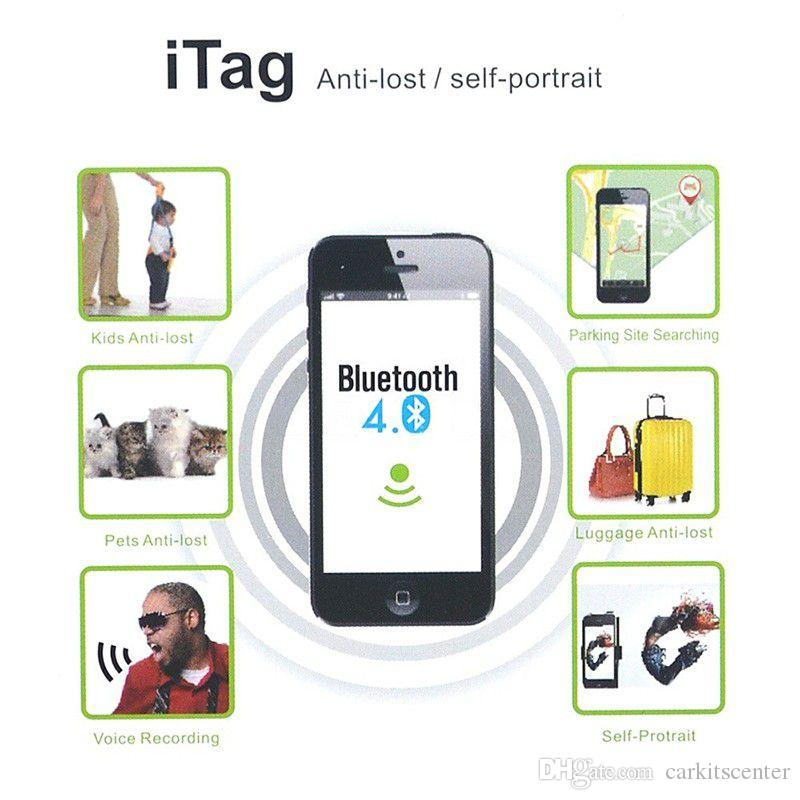 Mini Bluetooth Wireless Smart Finder iTag Tracker Purse Pet Bag Luggage Wallet Locator Key Anti Lost Alarm Reminder with Battery