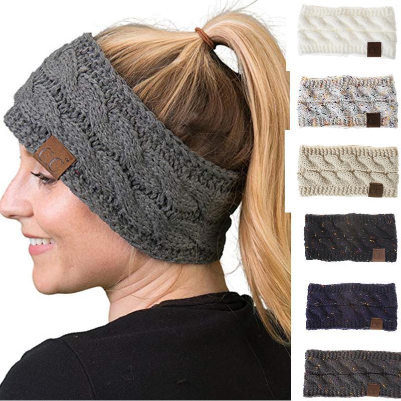 Großhandel Cc Gestrickte Stirnbänder 21 Farben Häkeln Twist Headwear ...
