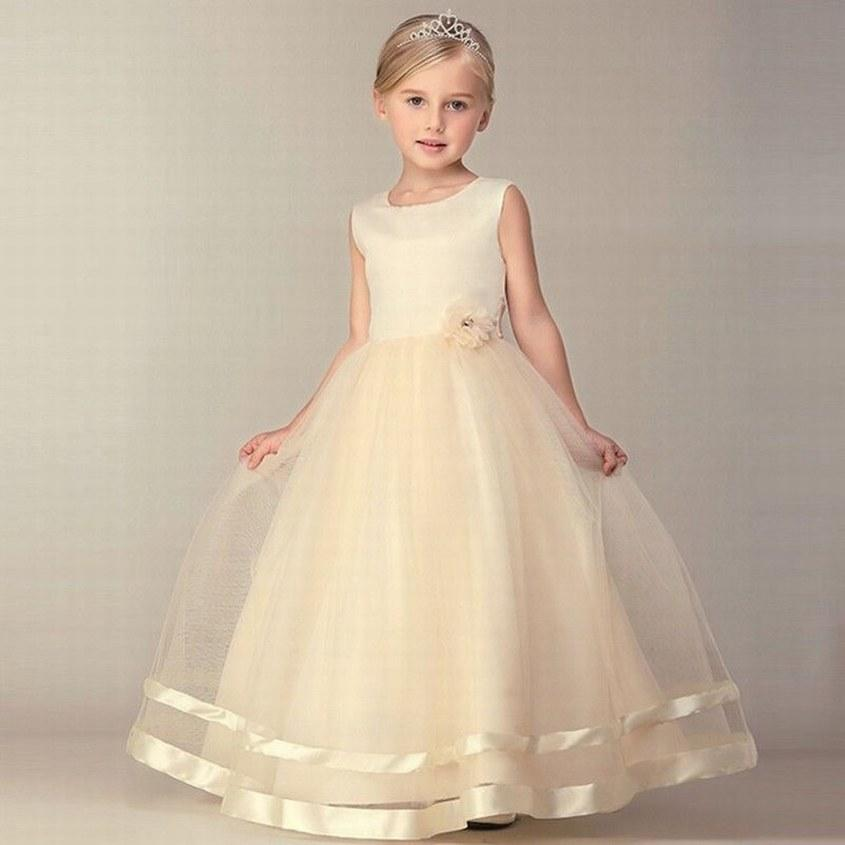 d05e70c9993 Charming Champagne Flower Girl Dress Princess Pageant Prom Party Birthday Special  Occasion Children Ball Gown YYST434 White Flower Girl Dresses Baby Girls ...