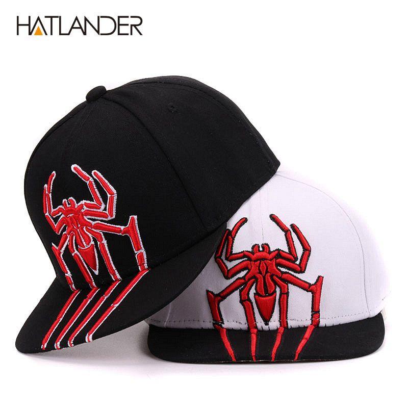 Spider 3D Embroidery Kids Baseball Cap Baby Boy Snapbacks Hats Girls ... b9fb4f77e76e