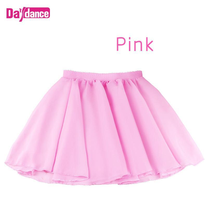 6430b87f3 Falda de ballet de bebé para niñas Lirica de ballet de gasa semi  transparente Ballet de tutú rosa para niños Falda de gimnasia de leotardo