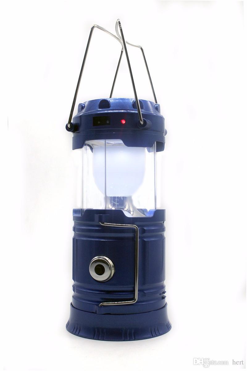 High-power Solar charging Portable lamp 1000Lm outdoor camping flashlight portable lantern USB Power bank torchlight fishing hiking