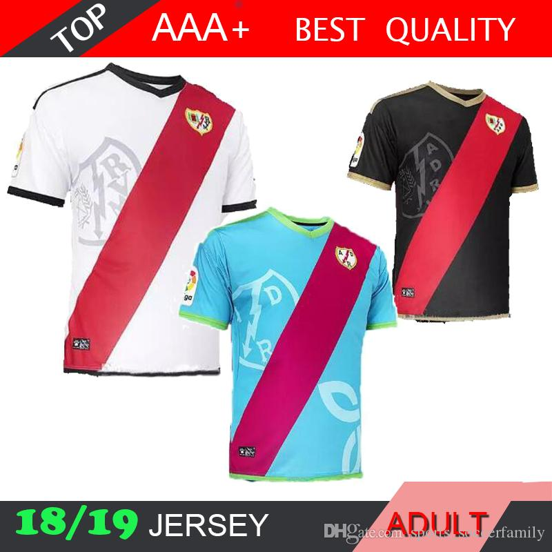 2018 2019 Rayo Vallecano TRASHORRAS Jersey Home Away Alex Moreno ... c50cf1a99