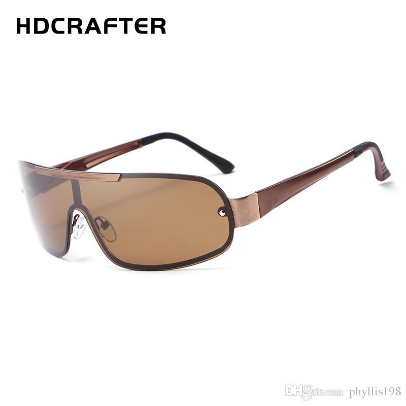 fcb88a61d4f7 HDCRAFTER Designer Polarized Sunglasses Classic Outdoor Riding Men  Sunglasses Women Driving Glasses UV400 Metal Frame Polarized Lenses E010  Sunglasses ...