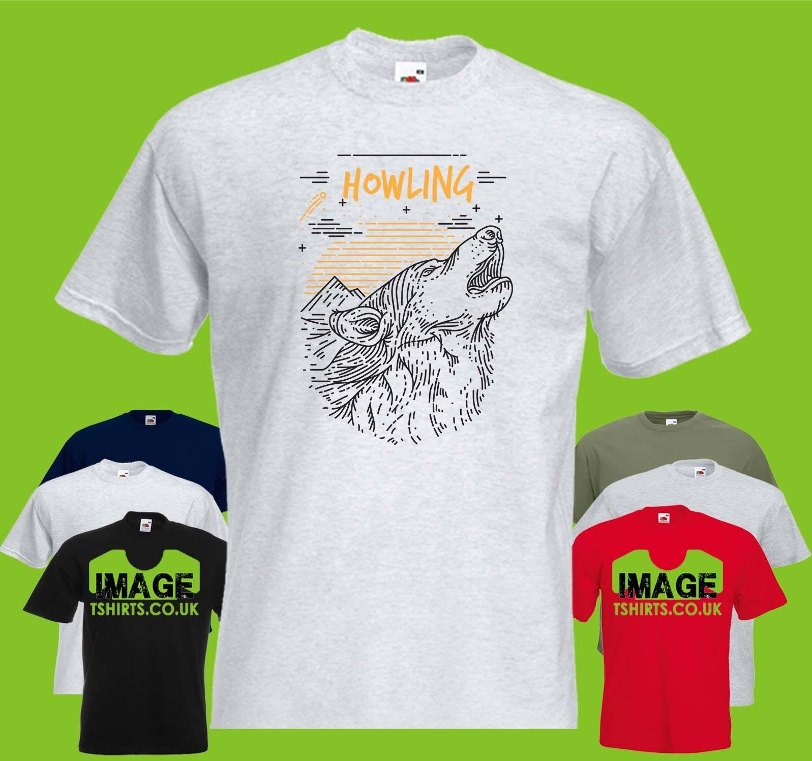 4b19046812d Howling Wolf Mens PRINTED T SHIRT Animal Landscape Mountains Text Woods  Forest Cool Casual Pride T Shirt Men Unisex New Fashion Weird T Shirts T Shirt  Shop ...