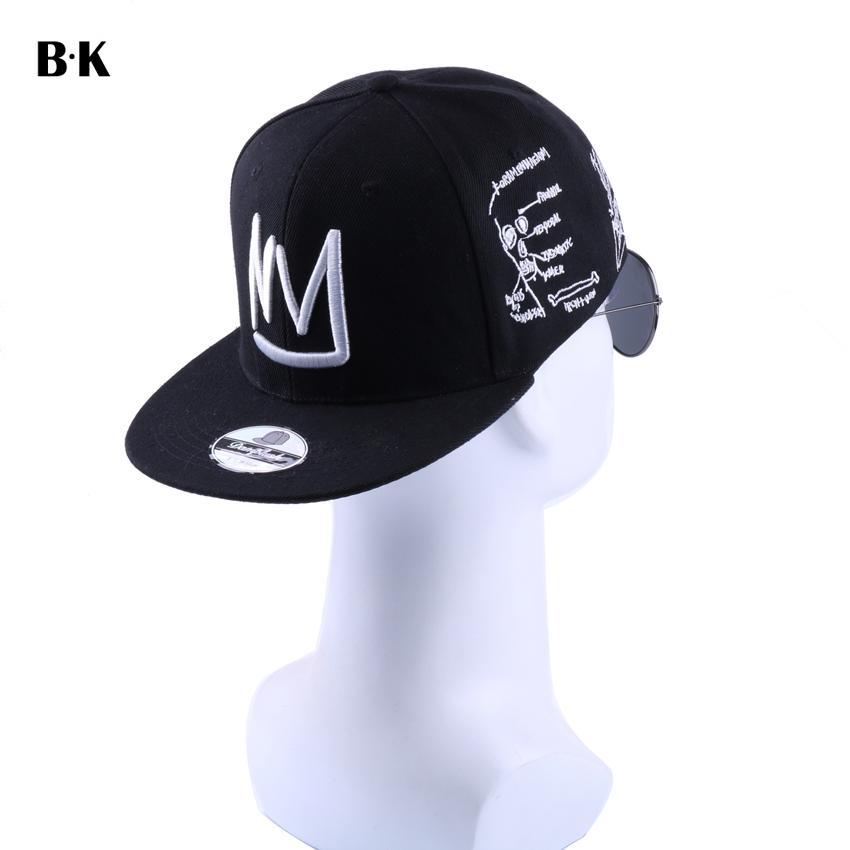 e76d26349 Men Women Casual Baseball Cap Embroidery HEART BEAT Wide Brim Snapback Hip  Hop Caps 5 Panels Gorras Casquette Adjustable Hats