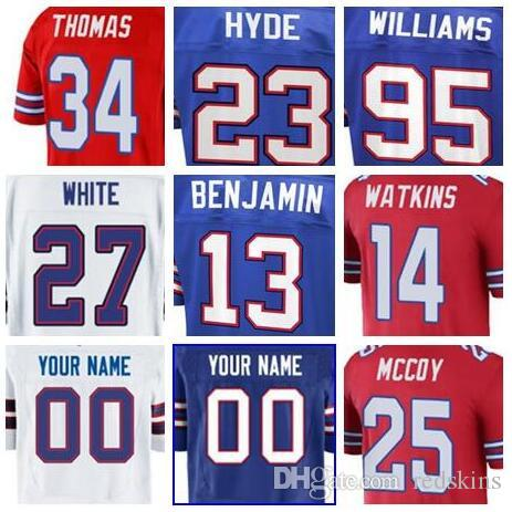 quality design 16bbc d4a49 2018 Buffalo LeSean McCoy jersey Bills Jerry Hughes soccer rugby college  retro rugby Charles Clay american football jerseys stitched cheap 5