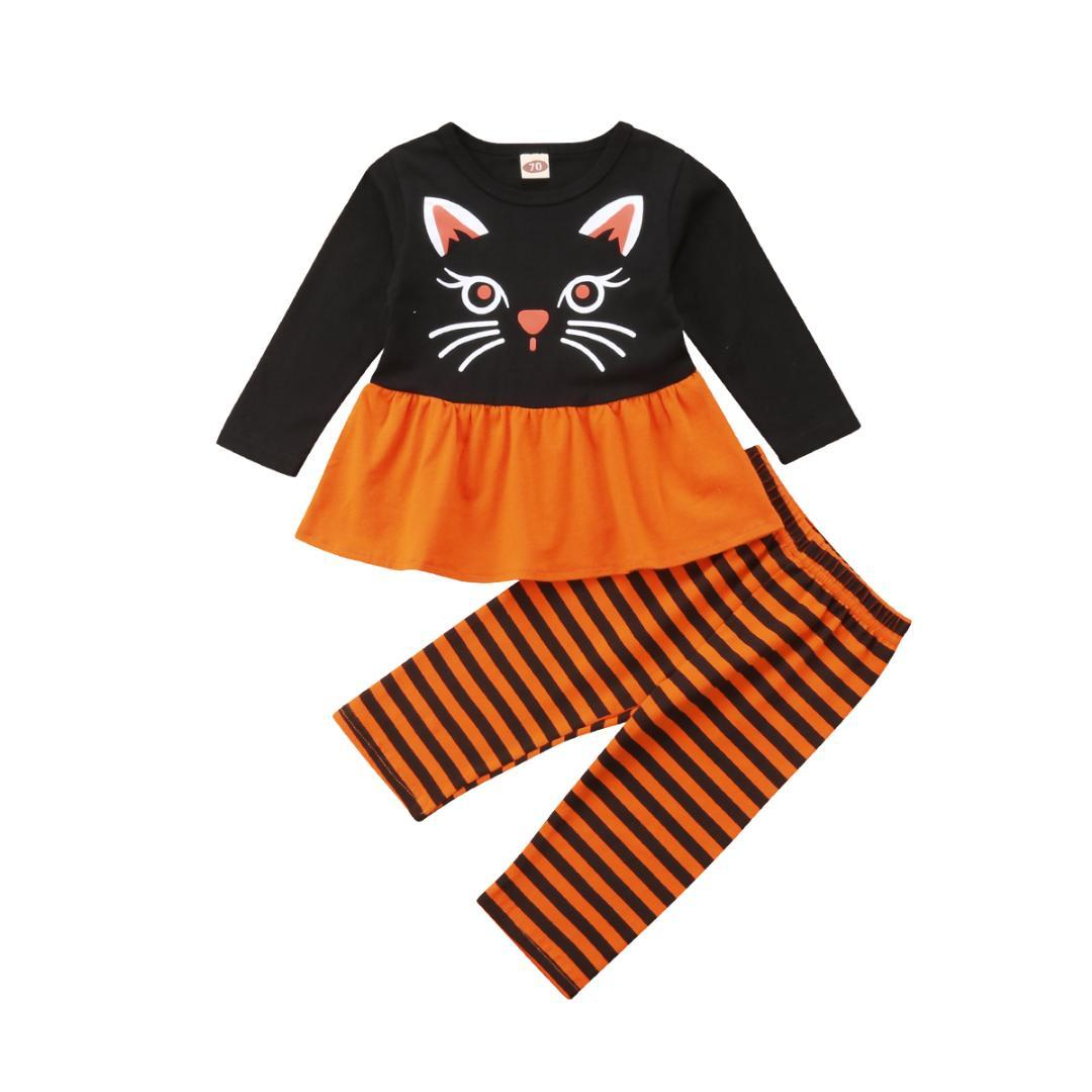 2018 emmababy kids baby girl halloween outfits long sleeve tops