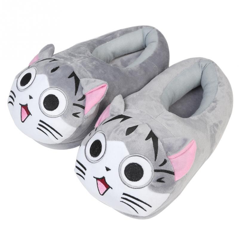 c1a2e062c 2017 New Cartoon Cat Cotton Slippers Soft Warm Home Slippers For Girls Use  Anime Cartoon Plush Stuffed Shoes Cute Winter Shoes High Heel Shoes  Designer ...
