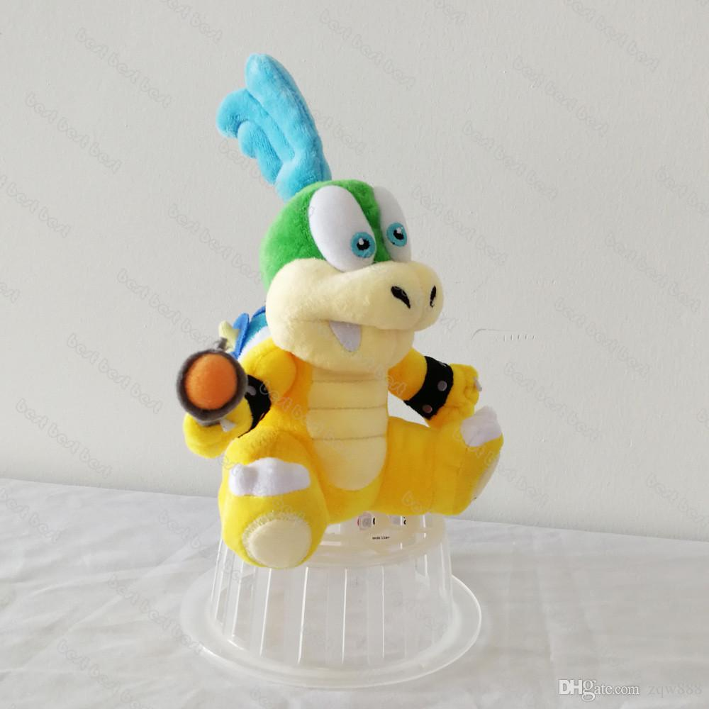 "New arrival 100% Cotton 8"" 20cm Luigi Mario Koopalings Larry Koopa Plush Stuffed Toys For Child Gifts NOMA010"