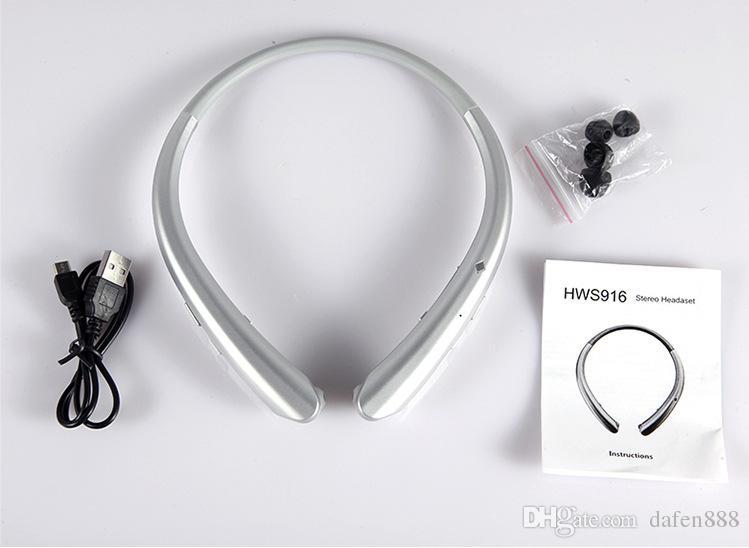 1 stücke Hals hängen Bluetooth Kopfhörer HWS916 Bluetooth Kopfhörer Versenkbare Linie Bewegung 4,1 Hängen Hals Binaural Lauf Kopfhörer
