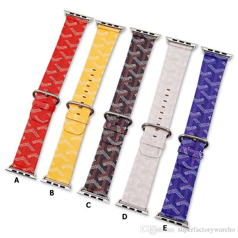 Satın Al Apple Sapanlar Için Watchband Saat Kayışı Lüks Klasik Saat