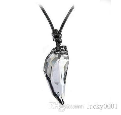 Catena di cristallo austriaco lupo ciondolo dente gioielli moda classica uomini e donne collana di cristallo chiodo i