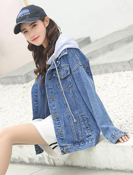 cbfaf91d8f5 Brand Plus Size 5XL 6XL Oversize Denim Jacket Women 2018 Spring Slim Cotton  Light Washed Long Sleeve Jeans Jacket Coats Biker Leather Jackets Womens  Leather ...