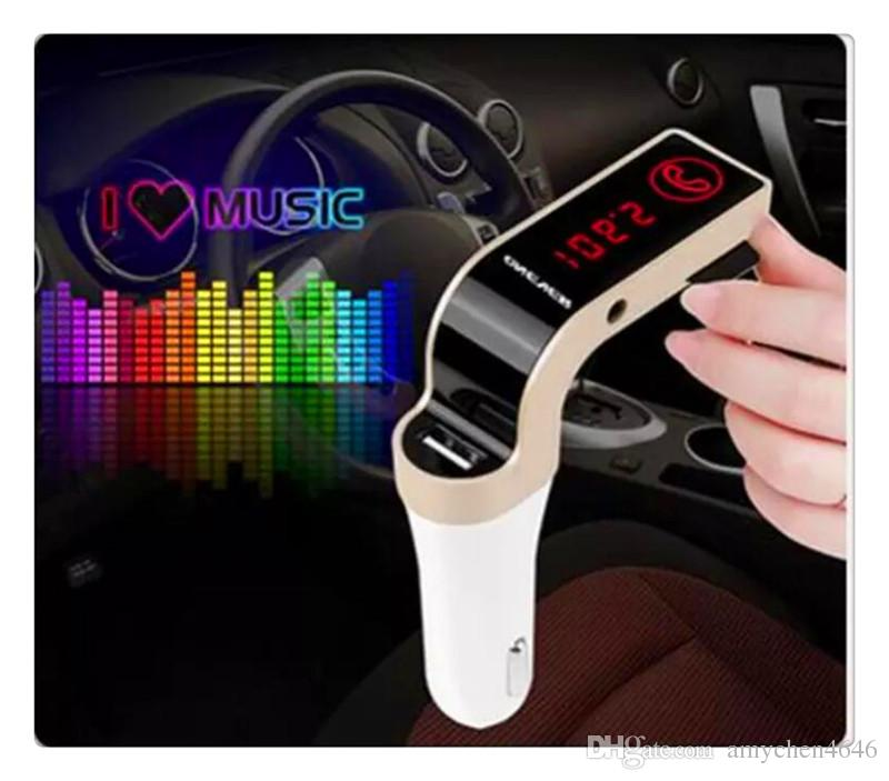 Hands Free Wireless Bluetooth FM Transmitter G7 + AUX Modulator Car Kit MP3 Player SD USB LCD Car Accessories
