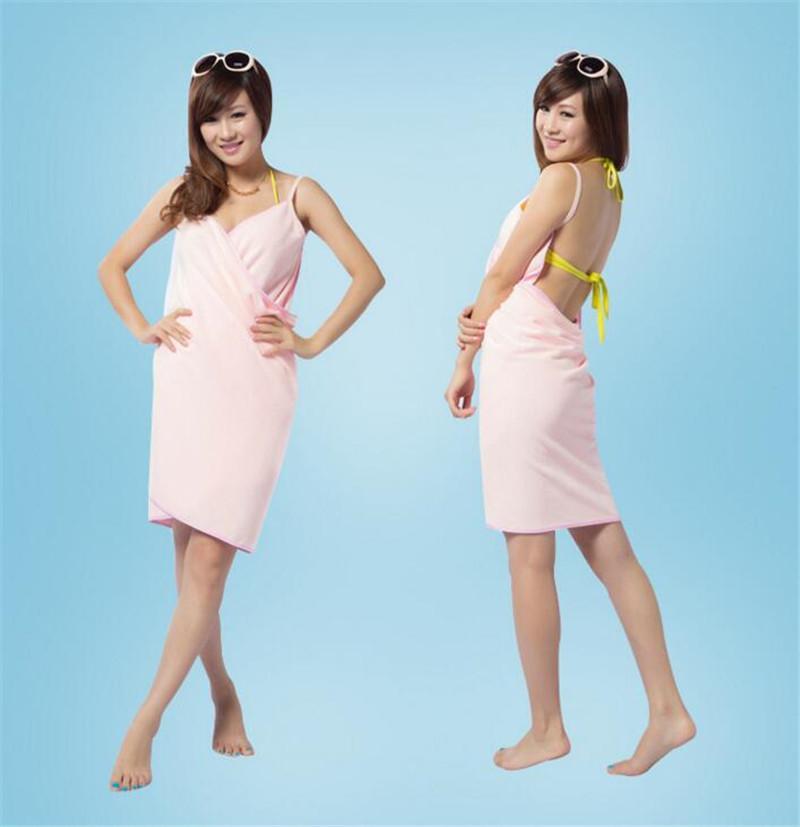 Sihirli Banyo Havlusu Lady Kız SPA Duş Havlu Vücut Wrap Banyo Robe Bornoz Plaj Elbise Giyilebilir Sihirli Havlu Variety Banyo Plaj