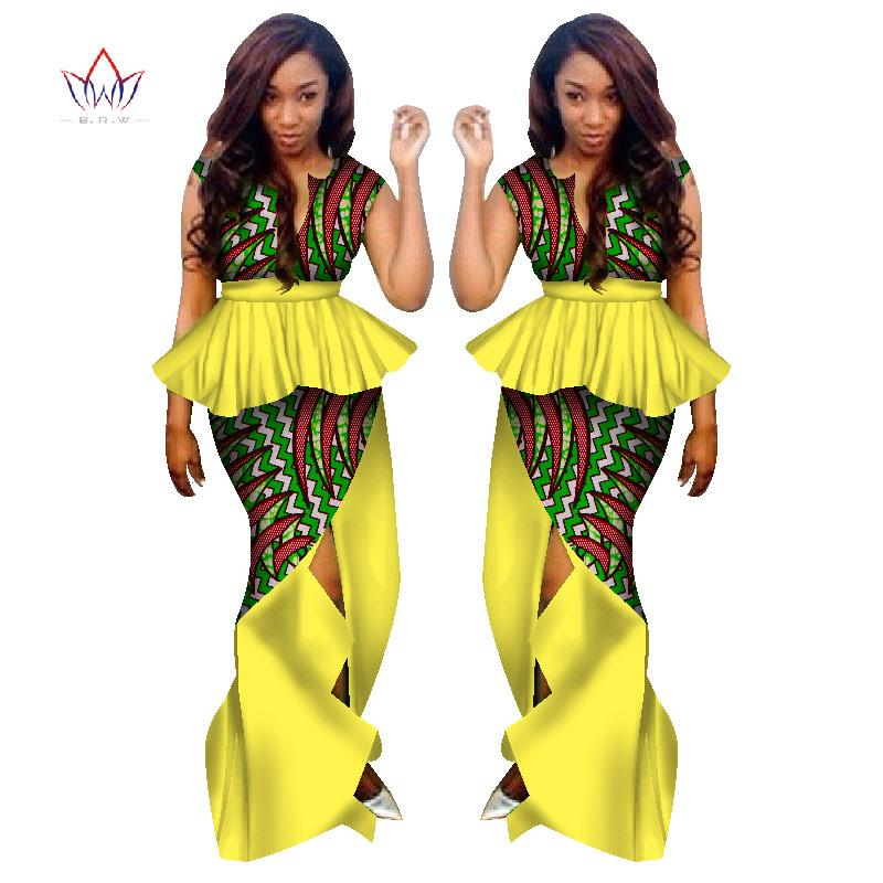 2bfa86024f 2019 BRW Traditional African Clothing For Women Skirt Suit Set Clothing  African Clothes African Print Maxi Skirts WY1132 From Bintarealwax