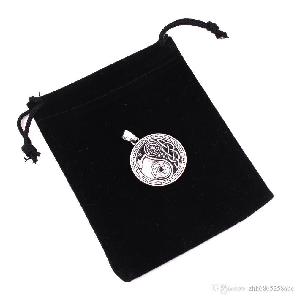 Yeni Stiller Raven kolye morrigan karga kuzgun yin yang muska takı