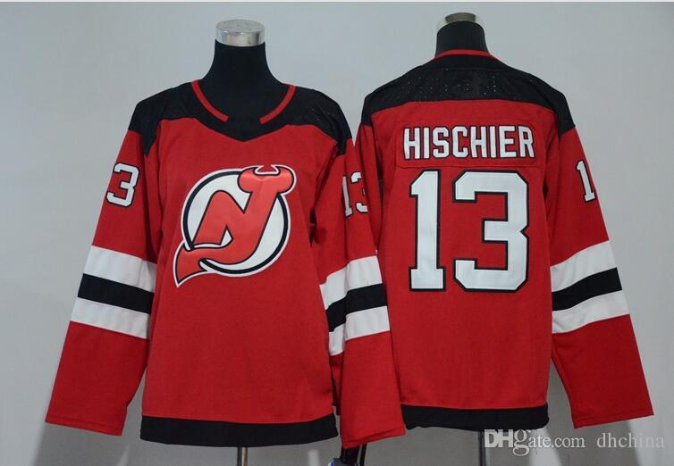 New Women Hockey Jerseys New Jersey Devils Jersey  !3 Hischier 2018 ... 25774a826