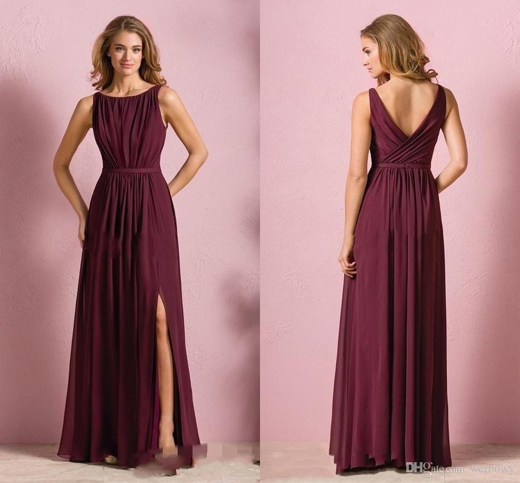 Asombroso Burgandy Bridesmaids Dresses Galería - Colección de ...