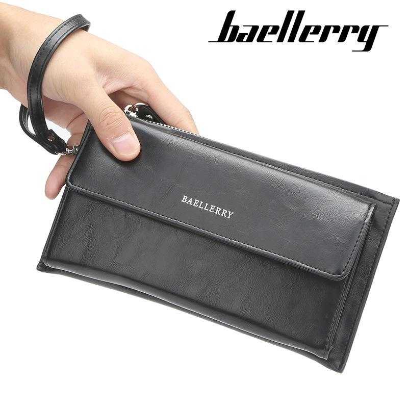 Men's Bags Lovely Top Quality Brand Designer Men Zipper Long Wallet Pu Leather Coin Purses Male Phone Money Pocket Pochette Clutch Bag Card Holder Luggage & Bags