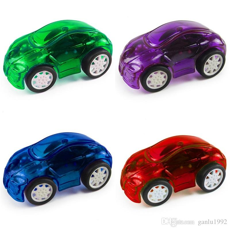 Wind Up Toys Cute Transparent Plastic Running Pull Back Car Clockwork Classic Toy Newborn Spring Cars For Kid Early Education 0 5bx Z