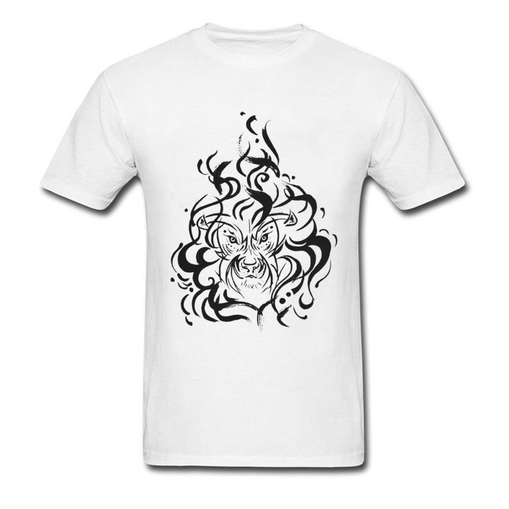 66b016d5 3D Lion Tattoo Animal T Shirts For Adult American Wild Lion T Shirt Custom  Ink T Shirt Design Online Anti Pilling Cotton Cool Looking T Shirts Buy  Designer ...