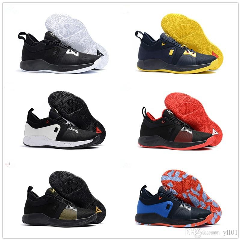 latest collections 2018 Hot Sale Paul George 2 Black White Red Blue Men's Basketball Shoes for High quality PG 2s Casual Sports Training Sneakers Size 40-46 outlet best seller cheap real finishline cheap sale for cheap kDRgCF5