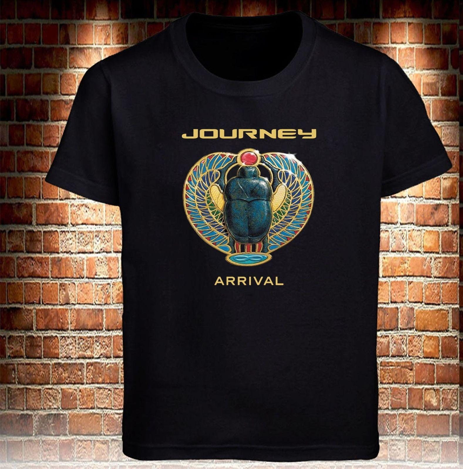 9e80c7b56 Black T-shirt Journey Band Arrival Logo Grey Tee Men's Tee S - 3xl Cartoon T  Shirt Men Unisex New Fashion Tshirt Free Shipping