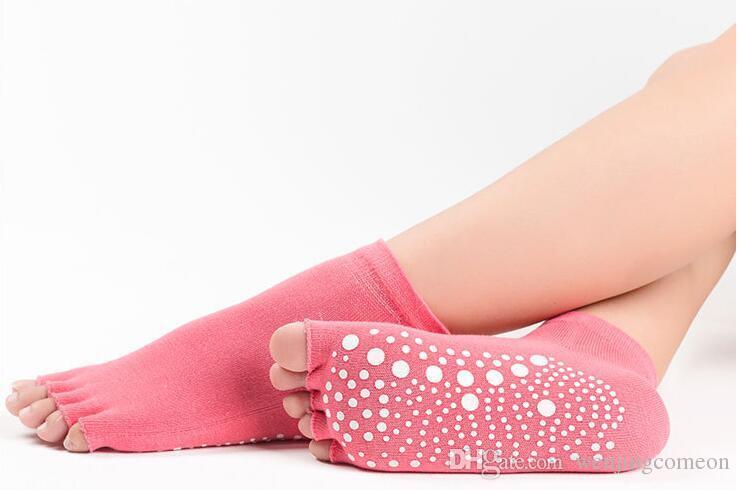 여자의 낮은 상승 절반 발가락 그립 발레 요가 필라테스를위한 미끄럼 방지 바레 발가락 양말 소녀 패션 스포츠 양말 키즈 양말