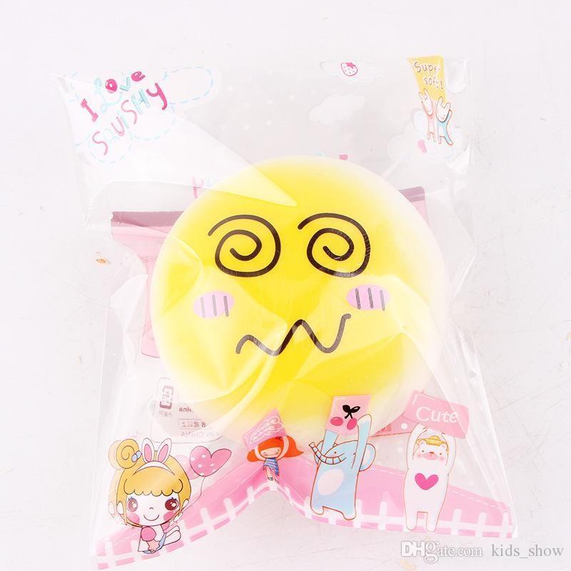 Jumbo Kawaii Pequeno Squishy Super Lento Rising brinquedo Squishies Squeeze Rosto pão Kid Brinquedos engraçados brinquedos